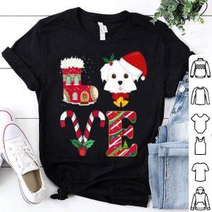 Premium I Love My Maltese Funny Christmas Maltese Dad Mom Gift sweater