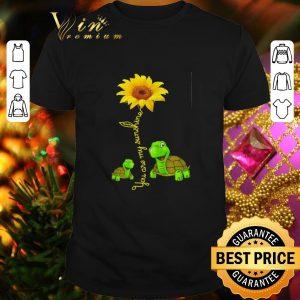 Premium Turtles you are my sunshine sunflower shirt
