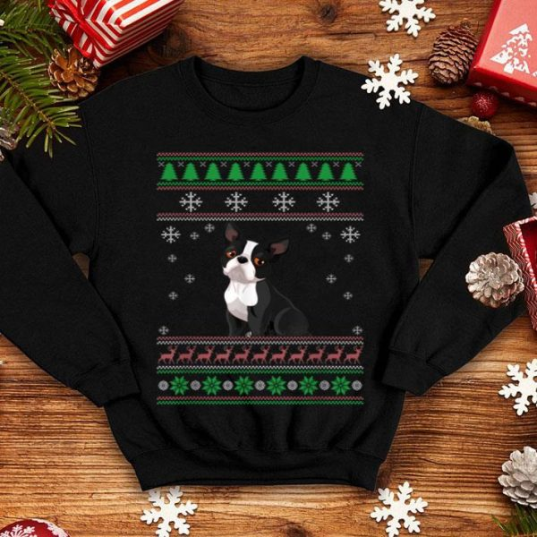 Top Dog Lover Ugly Christmas Sweater Boston Terrier Funny Xmas sweater