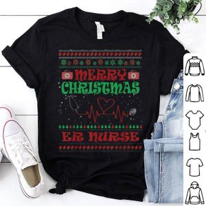 Top ER Nurse Ugly Sweater Merry Christmas sweater
