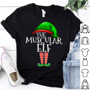 Top Muscular Elf Group Matching Family Christmas Gifts Workout sweater