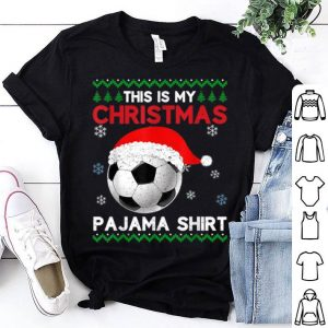 Top This is My Christmas Pajama Soccer Santa Ugly Xmas sweater