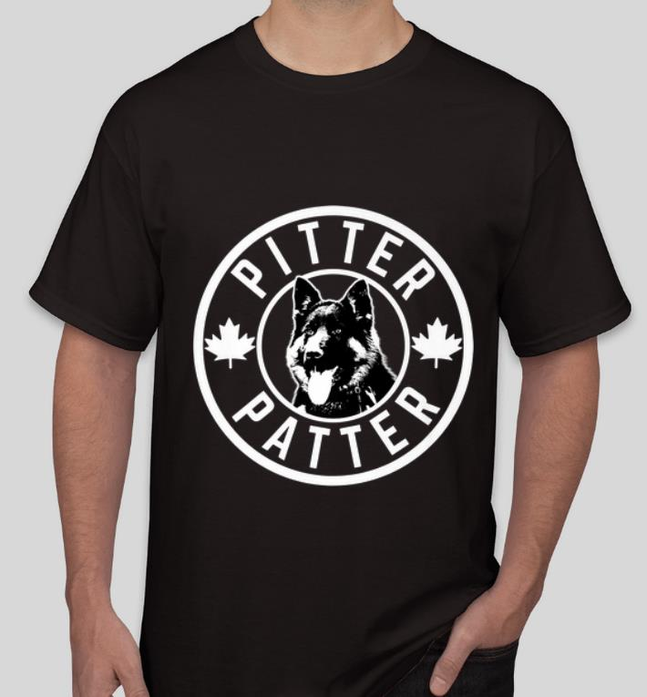 Awesome German Shepherd Pitter Patter Canadian Maple Leaf shirt 4 - Awesome German Shepherd Pitter Patter Canadian Maple Leaf shirt