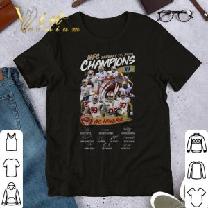 Awesome NFC January Champions San Francisco 49ers Go Niners signatures shirt