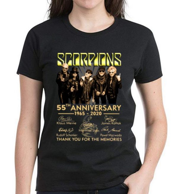 Awesome Scorpions 55th Anniversary Signatures Thank You For The Memories shirt