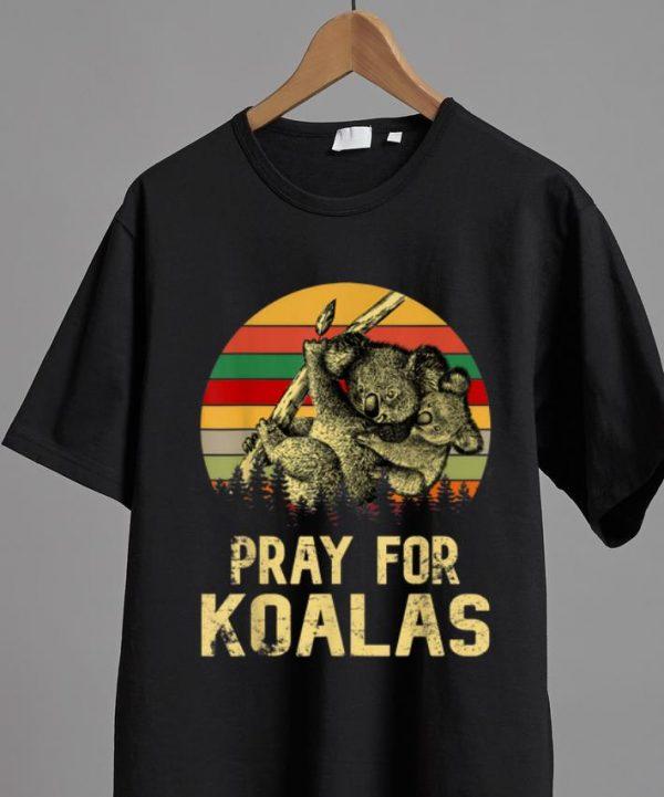 Premium Pray For Koalas Rain Save Australia Vintage shirt