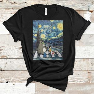 Top Studio Ghibli Friends And Starry Night Abbey Road shirt