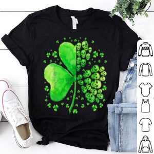 Awesome Sugar Skull Lucky Shamrock Happy St Patrick's Day Gifts shirt