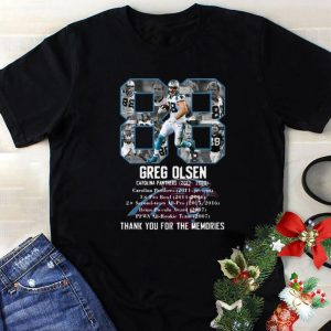 Funny 88 Greg Olsen Carolina Panthers Thank You For The Memories shirt