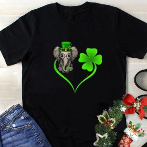 Funny Love elephant heart St. Patrick's day shirt
