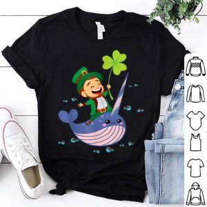 Great Leprechaun Riding A Narwhal - Funny St Patricks Day shirt