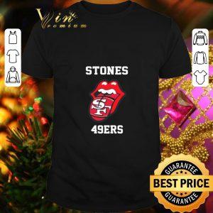 Premium Rolling Stones 49ers and San Francisco 49ers logo shirt