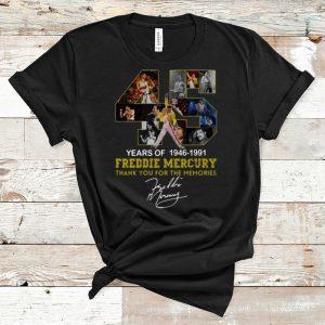Top 45 Years Of Freddie Mercury 1964 – 1991 Signature shirt