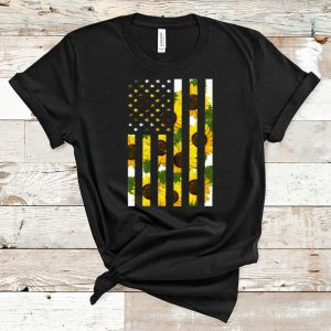 Top Sunflower American Flag shirt