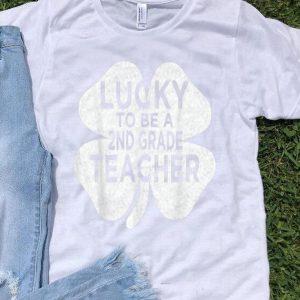 Top Vintage Lucky To Be A 2nd Grade Teacher St Patricks Day Men shirt