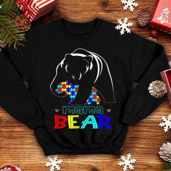 Nice Mama Bear Autism Awareness Gifts For Autism Mom Love Support shirt