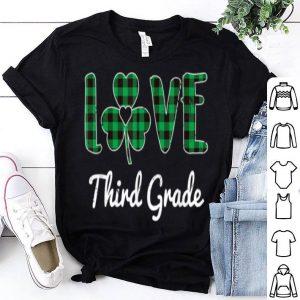 Nice St Patricks Day Third Grade Teacher Costume Shamrock shirt