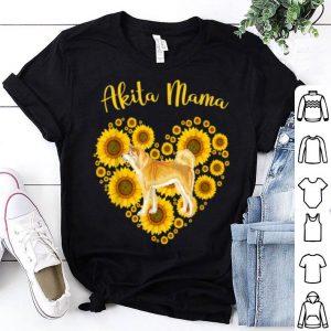 Nice Sunflower Heart Akita Mama, Funny Mother's Day shirt