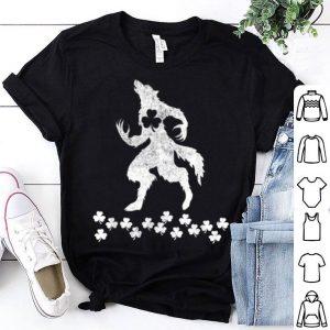 Nice Werewolf St Patricks Day Animal Shamrock shirt