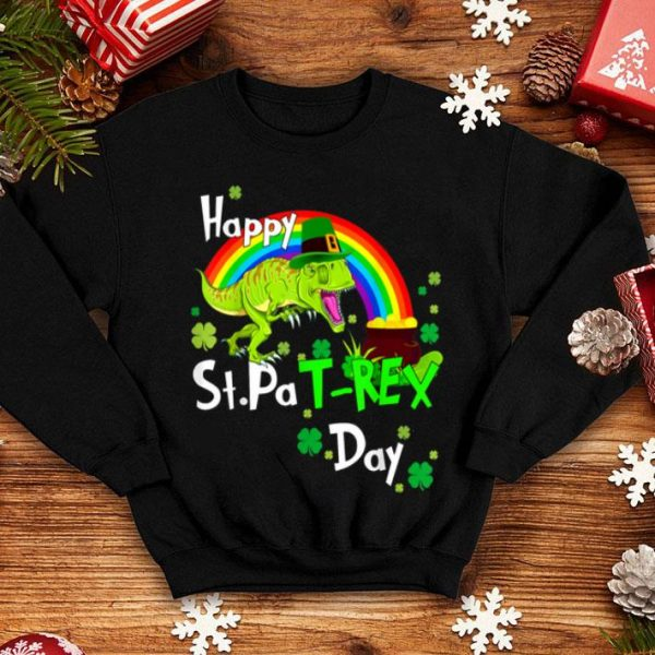 Official Happy St Patrick's Day Dinosaur Pat Rex Leprechaun Rainbow shirt