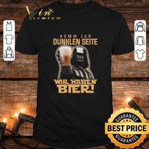 Premium Darth Vader komm zur dunklen seite wir haben bier Star Wars shirt