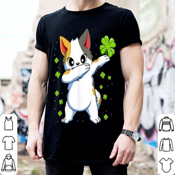 Pretty Dabbing Cat St Patricks Day Gift Boys Girls Dab shirt