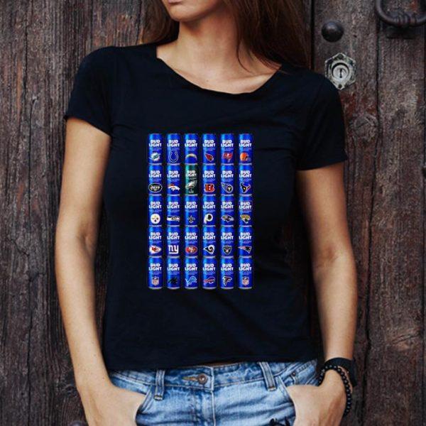 Great Bud Light NFL Team Logo shirt