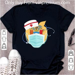 Pretty Apple Nurse Stethoscope New Jersey Flag Covid-19 shirt