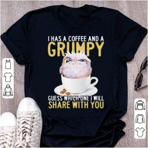 Pretty Owl I Has A Coffee And A Grumpy Guess Which One I Will Share With You shirt