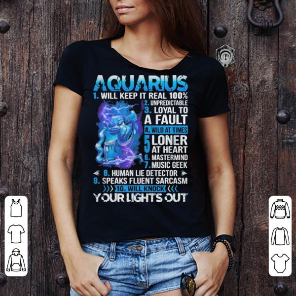 10 things about Aquarius shirt