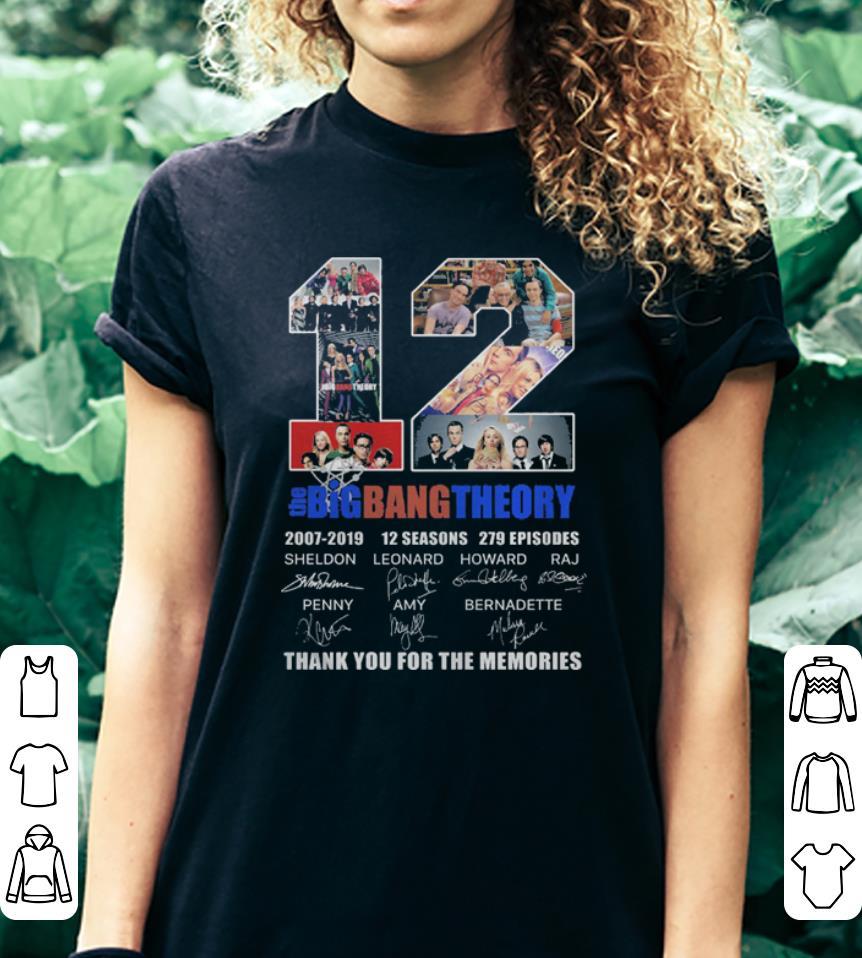 d026c41d115 12 Years The Bigbangtheory – Thank You For The Memories shirt, hoodie