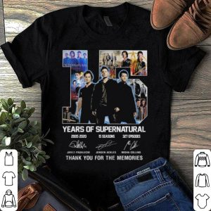 15 years of supernatural Jared Padalecki Jensen Ackles Misha Collins shirt