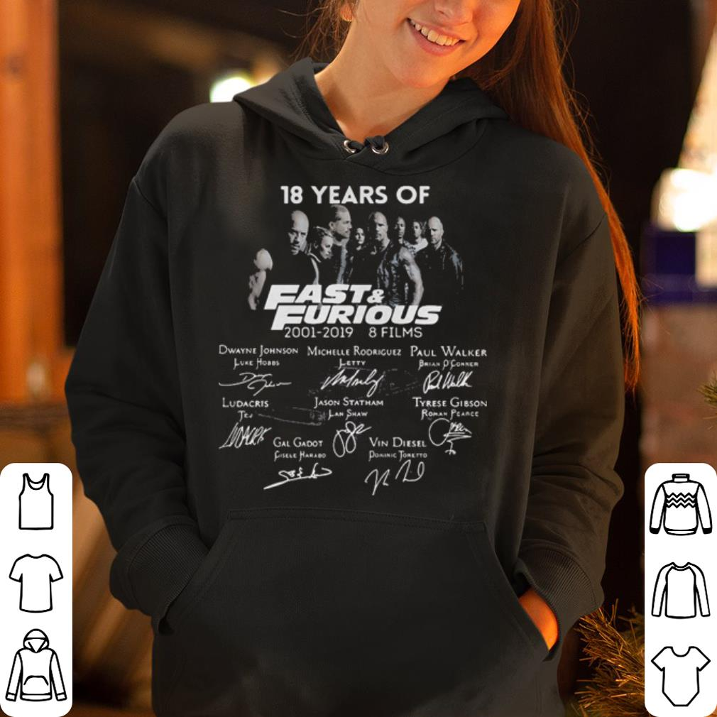 18 Years of Fast Furious 2001 2019 8 films signature shirt 4 - 18 Years of Fast Furious 2001-2019 8 films signature shirt