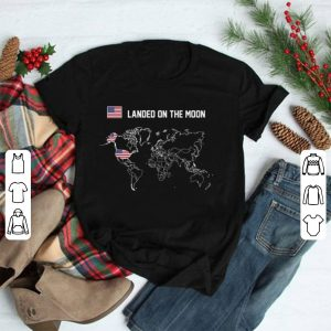 1st country Landed On The Moon America Proud shirt