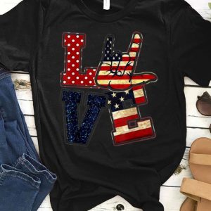 American Love Flag Independence Day shirt