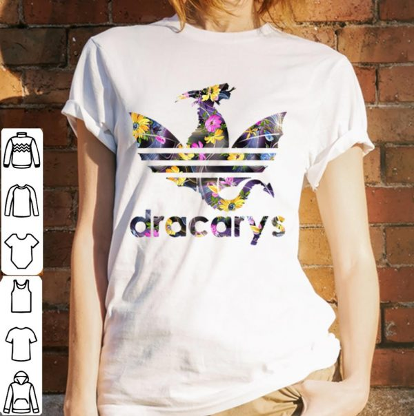 Floral flower game of thrones dragon dracarys shirt