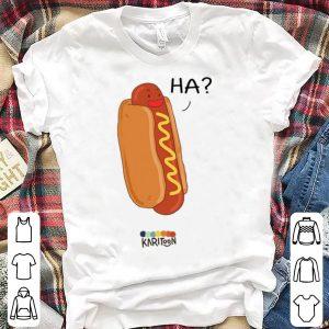 Hotdog Ha Karitoon shirt
