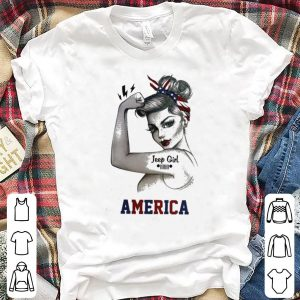 Strong woman Jeep girl America shirt