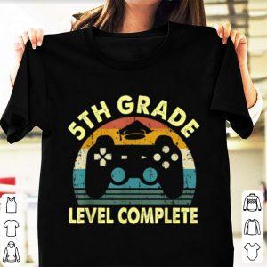 Vintage 5th grade level complete video gamer graduation shirt