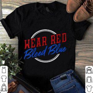 Wear Red Bleed Blue St. Louis STL Missouri Sports Hockey shirt