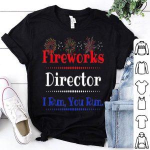4th Of July Fireworks Director Run Running shirt