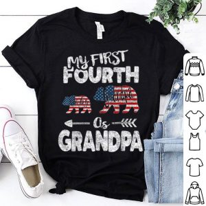4th Of July For Grandpa bear Pregnancy Announcement shirt
