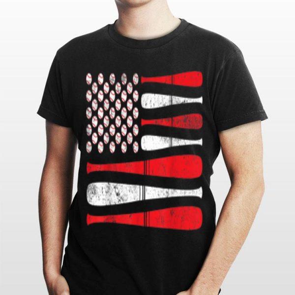 American Flag Baseball Team 4th July shirt