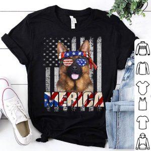 American Flag German Shepherd Patriotic 4th Of July Shirt
