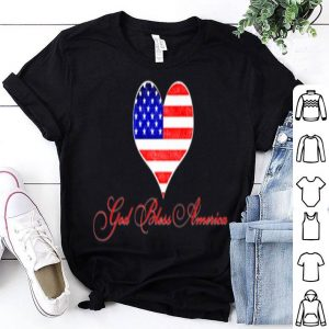 American Flag Hearts God Bless America Watercolor Painted shirt