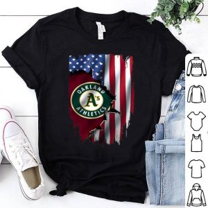 American Flag Oakland Athletics Mashup MLB shirt