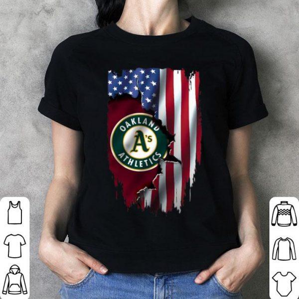 American Flag Oakland Athletics Mashup MLB shirt
