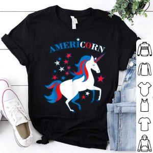 American Flag Unicorn Americorn 4th of July shirt