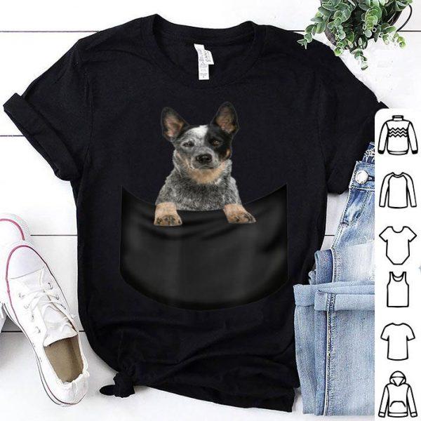 Australian Cattle Dog Pocket Father's Day Dog Shirt