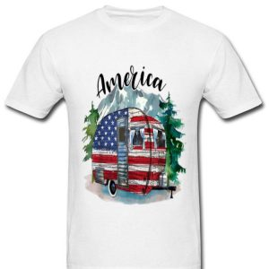 Camping America Flag July Of 4th Happy Independence Day shirt